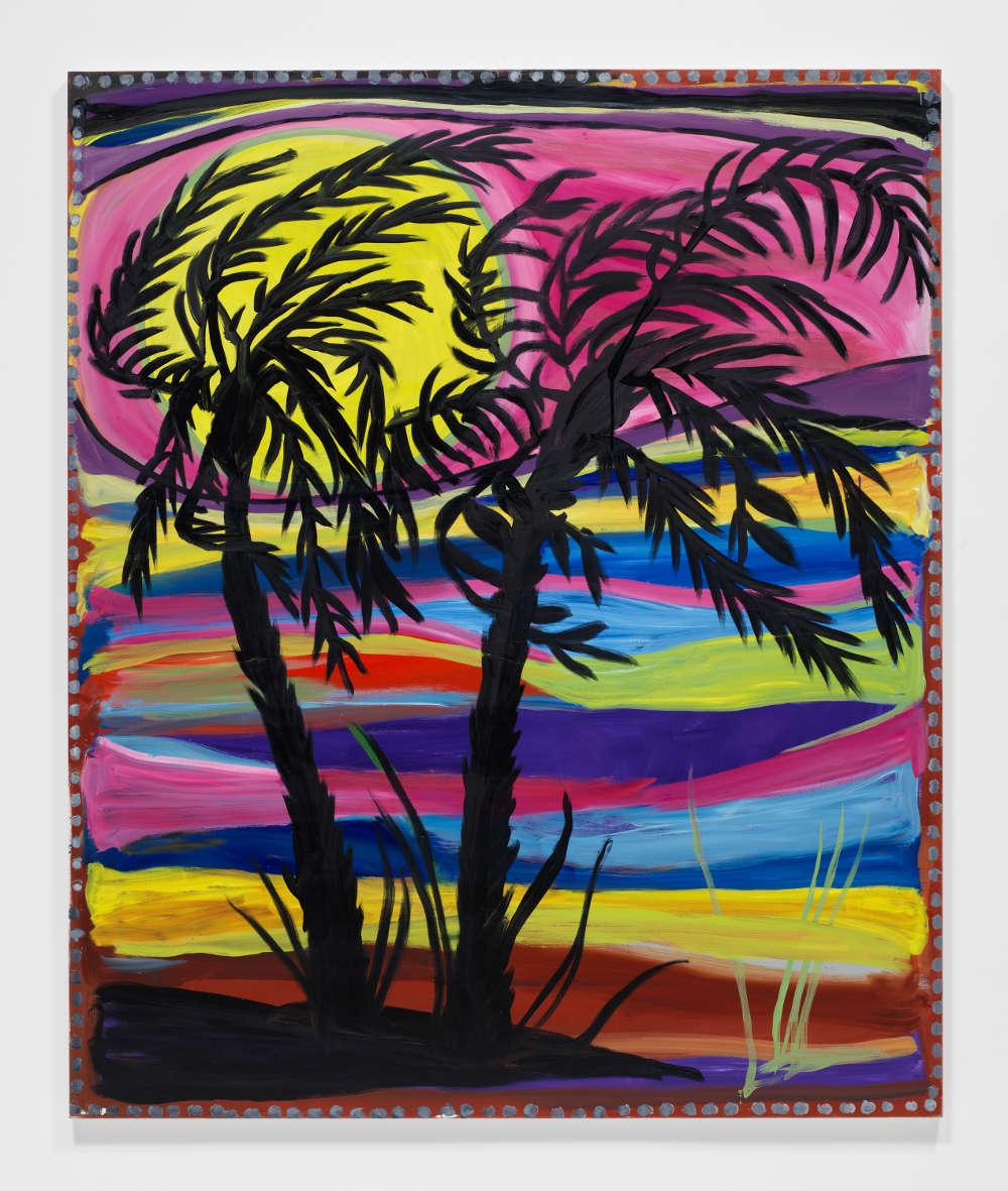 Josh Smith, Palms #3, 2019. Oil on linen 72 x 60 inches 182.9 x 152.4 cm © Josh Smith. Courtesy the artist and David Zwirner