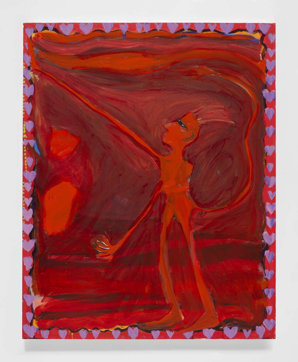 Josh Smith, Devil, 2019. Oil on linen 60 x 48 inches 152.4 x 121.9 cm © Josh Smith. Courtesy the artist and David Zwirner