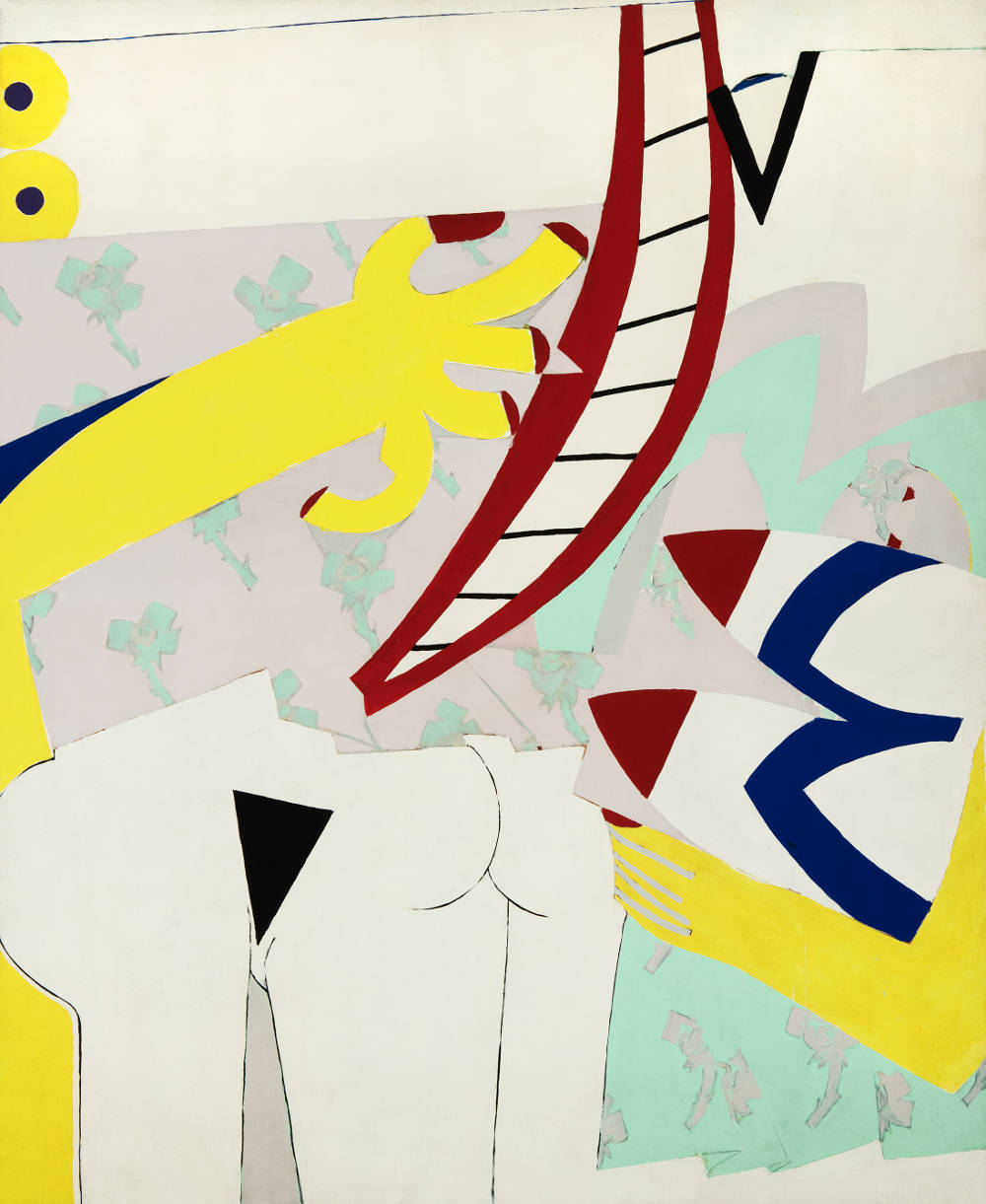 Knox Martin (b. 1923), Woman with Robe no.1, 1970–1. Inscribed (twice) on stretcher verso: 3793 / 3793. Acrylic on canvas 96 x 79 1/8 inches