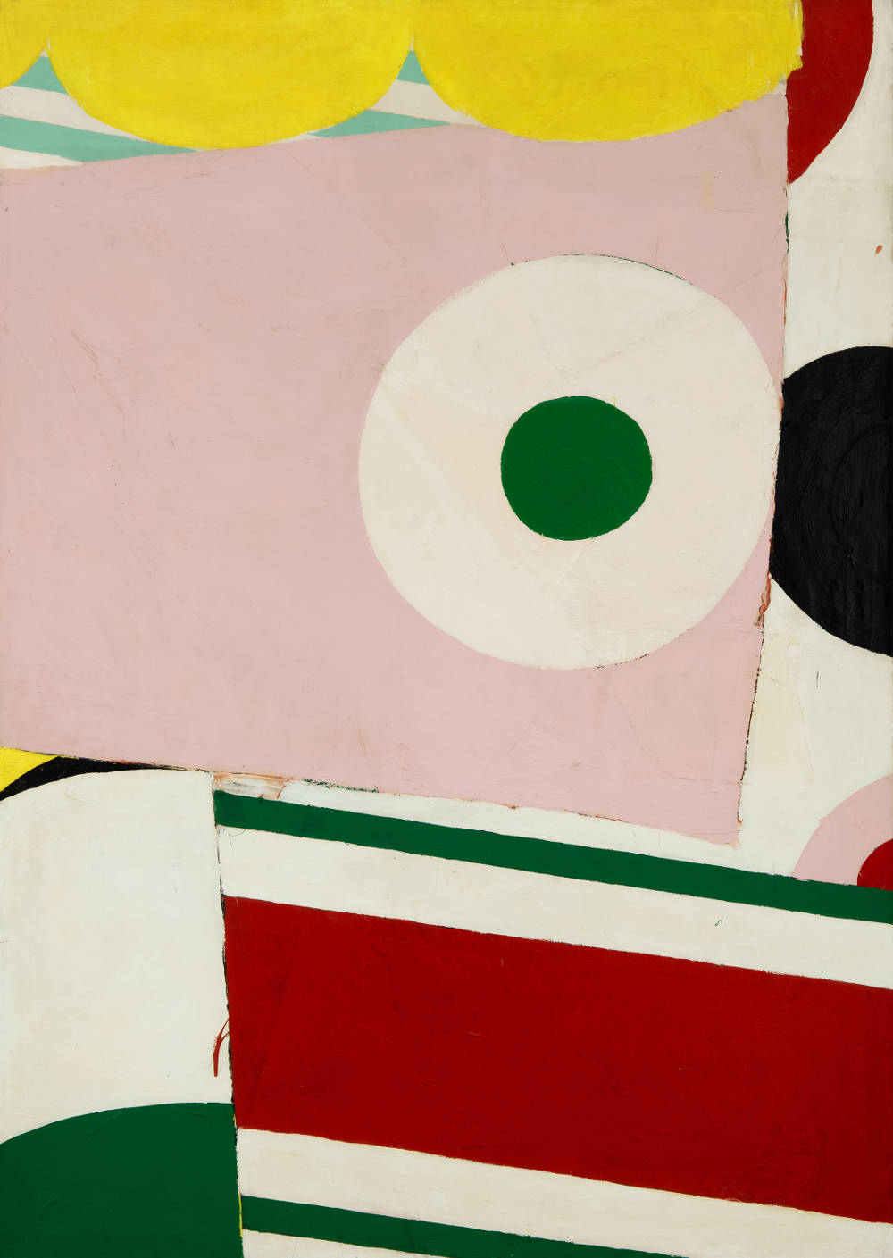 Knox Martin (b. 1923), She (Untitled), 1963–5. Magna acrylic on canvas 100 x 71 inches