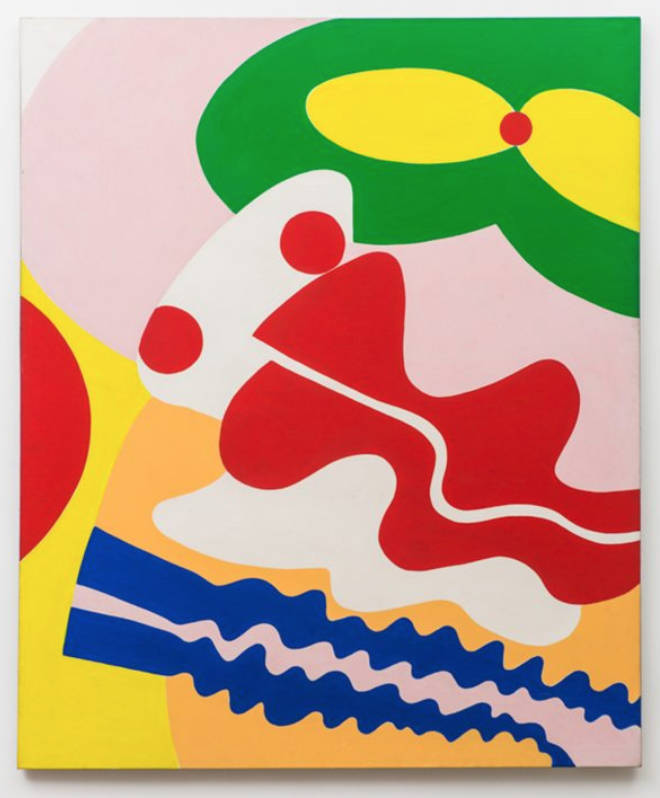 Knox Martin (b. 1923), Pandora (Green Mouth, Red Nose), 1972. Acrylic on linen 85 x 60 inches