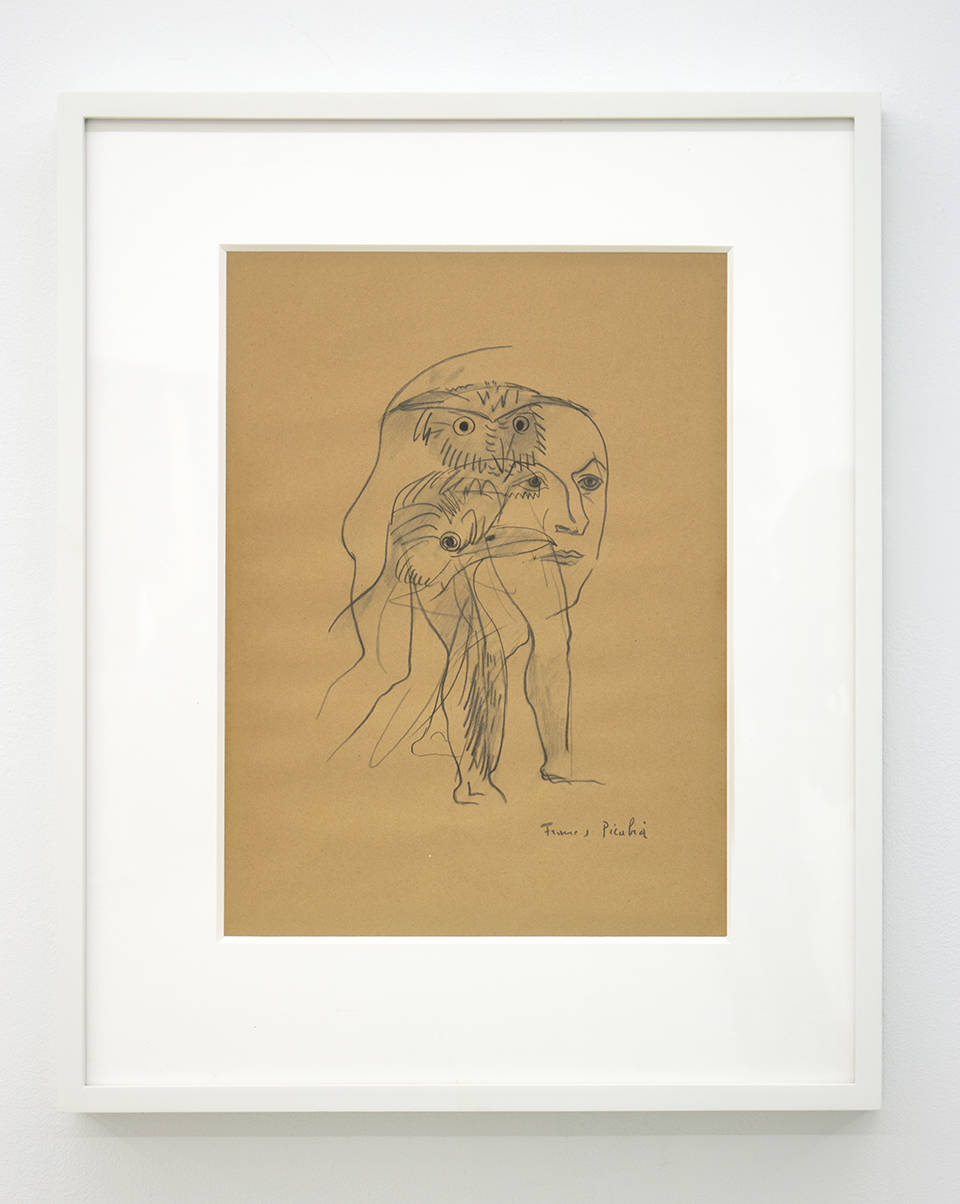 Francis Picabia, Untitled (from Orbes), circa 1940's. Rotogravure and graphite on paper 15.3 x 11.8 inches (38.8 x 30 cm)