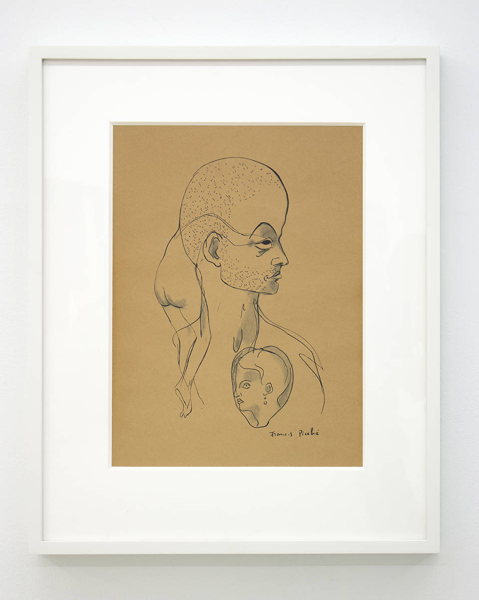 Francis Picabia, Untitled (from Orbes), circa 1940's. Rotogravure and graphite on paper 15.3 x 11.8 inches (38.9 x 30 cm)