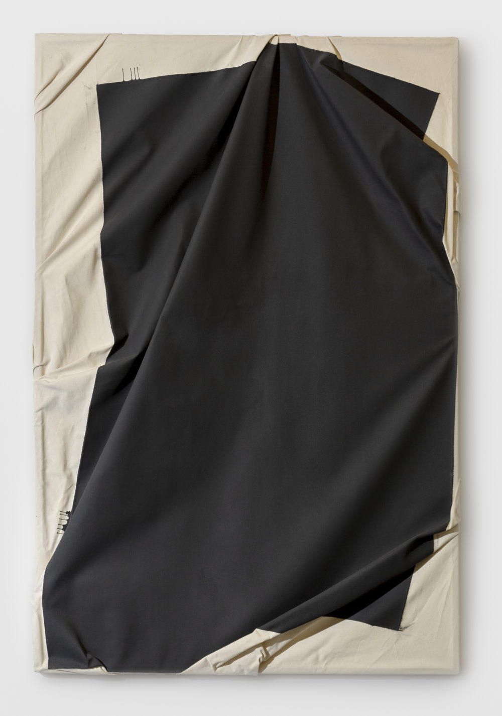 Steven Parrino, China de Sade, 1987. Acrylic on canvas 70 7/8 x 55 1/8 inches 180 x 140 cm. Signed, dated and titled S.Parrino 1987 China de Sade (on the stretcher); stamped STEVEN PARRINO (on the lower right)