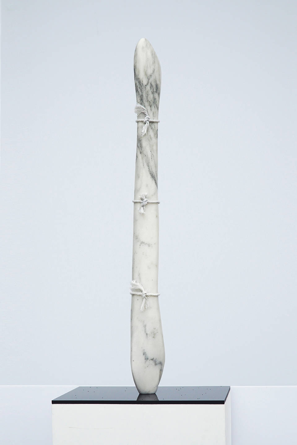 Virginia Lee Montgomery, Marble Pony I, 2019. Marble and string 15 x 3 x 3 inches (38.1 x 7.6 x 7.6 cm)