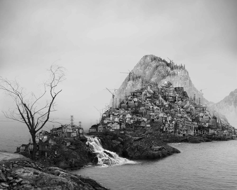Yang Yongliang, Time Immemorial-Flooding, 2016. Giclee print on fine art paper 80×100cm