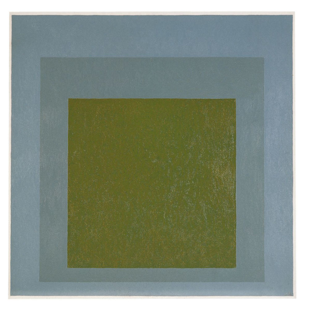 Josef Albers, Study for Homage to the Square: Ripening, 1968. Oil on masonite 101.5 x 101.5 cm / 40 x 40 in. Courtesy Hauser & Wirth