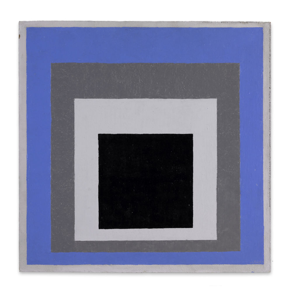Josef Albers, Study to homage to the square: apodictic, 1950-1954. Oil on masonite 40.4 x 40.4 cm / 15 7/8 x 15 7/8 in © 2019 The Josef and Anni Albers Foundation / 2019 ProLitteris, Zurich