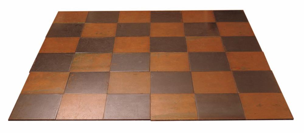 Carl Andre, Copper-Steel Plain, 1969. Copper and steel 183.6 x 183.6 x 1 cm / 72 1/4 x 72 1/4 x 3/8 in. Courtesy Hauser & Wirth