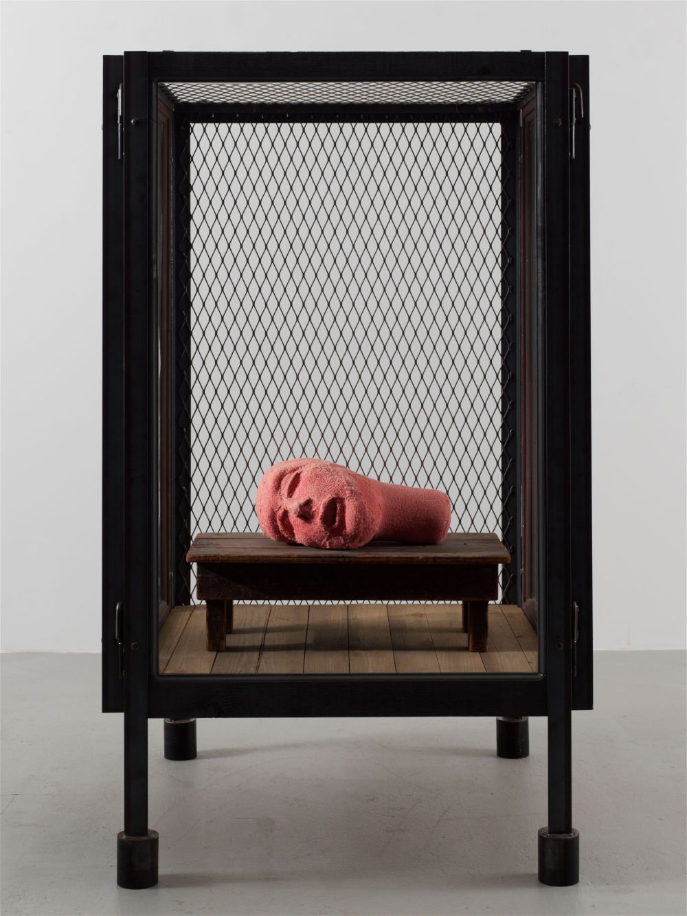 Louise Bourgeois (1911 - 2010), Cell XXIII (Portrait), 2000. Steel, glass, wood and fabric 177.8 x 109.2 x 109.2 cm / 70 x 43 x 43 in © The Easton Foundation/VAGA at ARS, NY and DACS, London 2019. Courtesy of the Ursula Hauser Collection, Switzerland