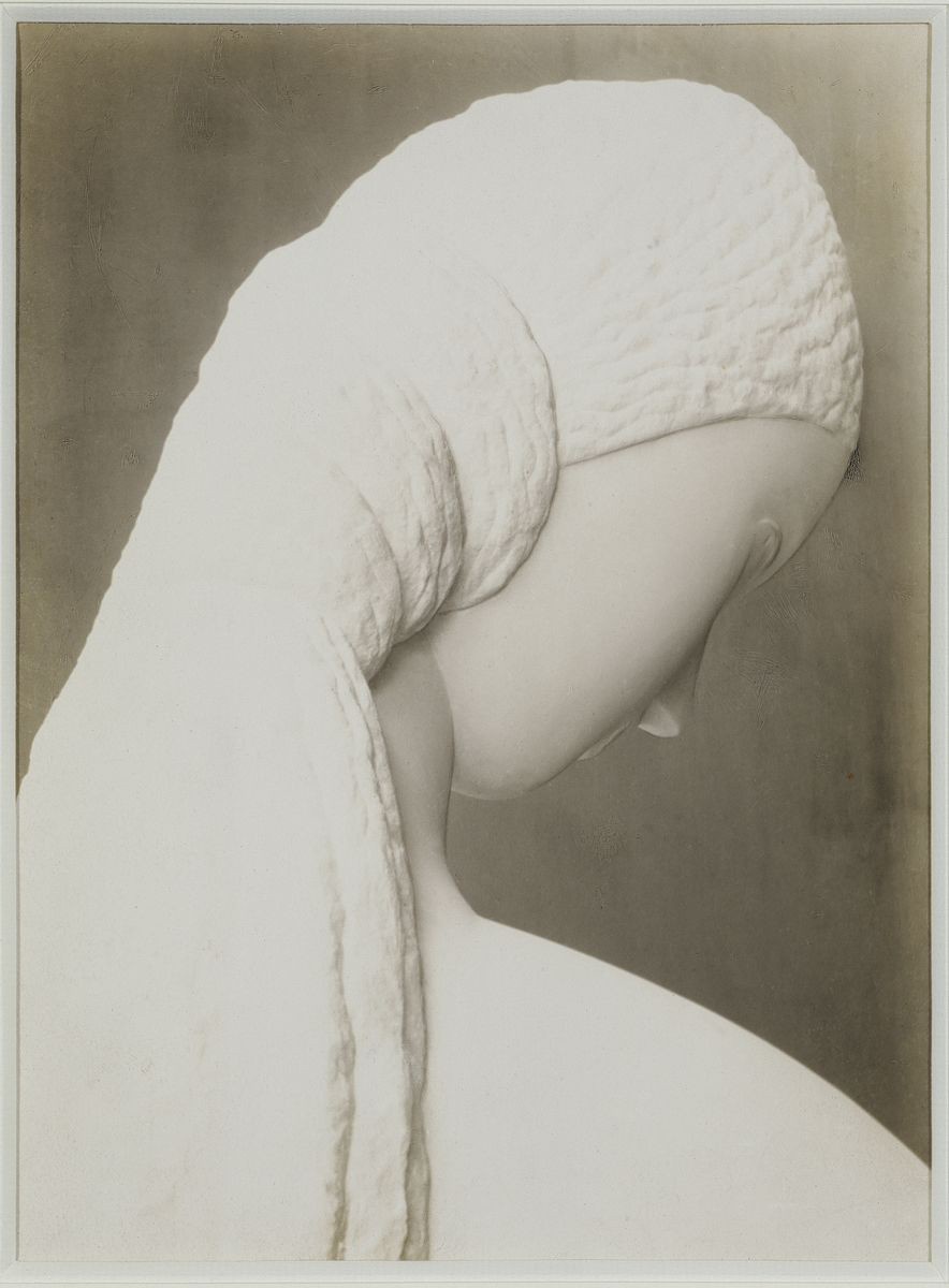 Constantin Brâncuși, Woman Looking at Herself in a Mirror (dedicated to Kiki), 1909. Silver print 31.4 x 24.7 cm / 12 3/8 x 9 3/4 in. Courtesy Hauser & Wirth