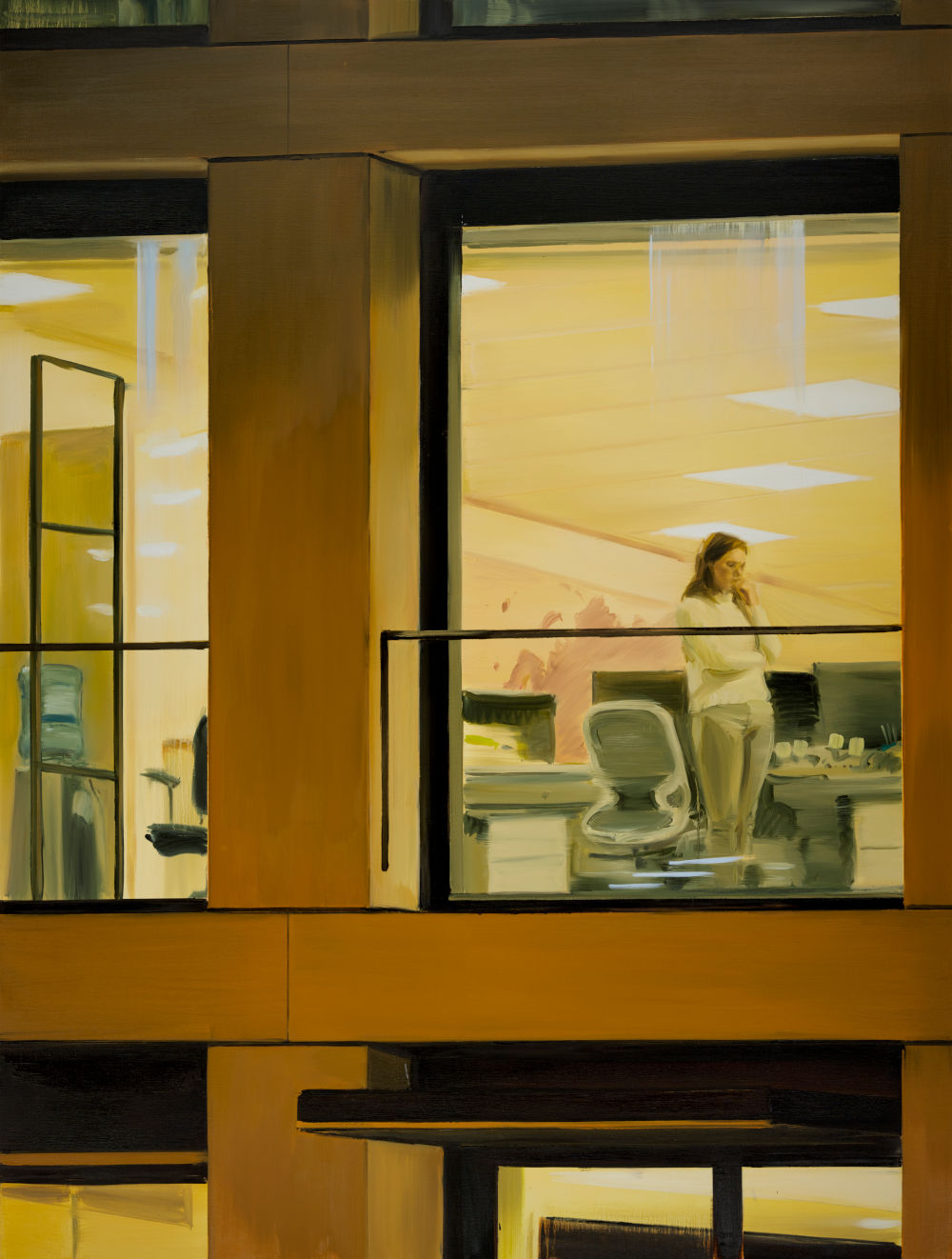 Caroline Walker, Empire, 2019. Oil on linen 240 x 180 cm 94 1/2 x 70 7/8 in © Caroline Walker. Courtesy the artist and Victoria Miro, London/Venice and GRIMM Amsterdam/ New York