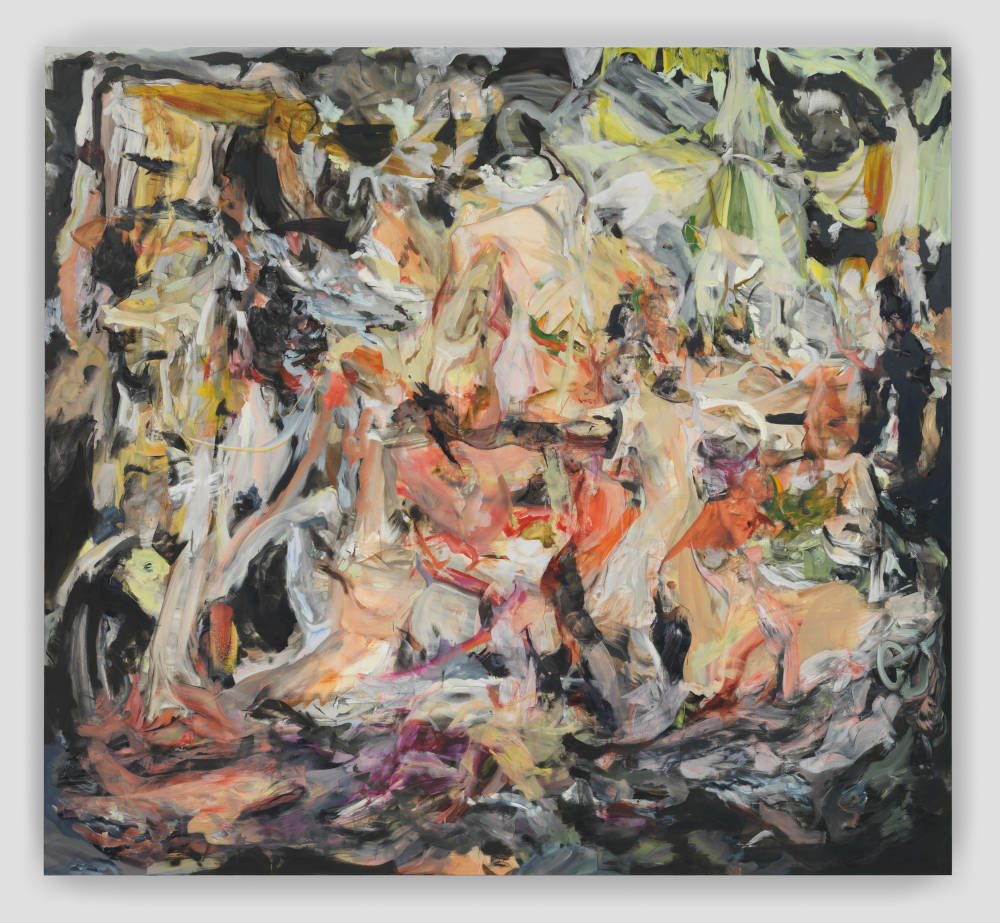 Cecily Brown, All Nights Are Days, 2019. Oil on linen 89 x 97 inches 226.1 x 246.4 cm. Courtesy of the artist and Paula Cooper Gallery. Image by Genevieve Hanson