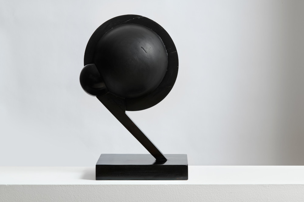 Christina Kruse, Head 6, 2017. Wood, acrylic paint, lacquer, wax, and varnish 19 x 10 x 12.5 inches