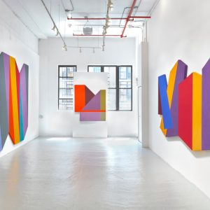 Mokha Laget: Polychrome Polygons @David Richard Gallery, New York  - GalleriesNow.net