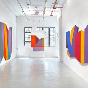Mokha Laget: Polychrome Polygons @David Richard Gallery, New York  - GalleriesNow.net