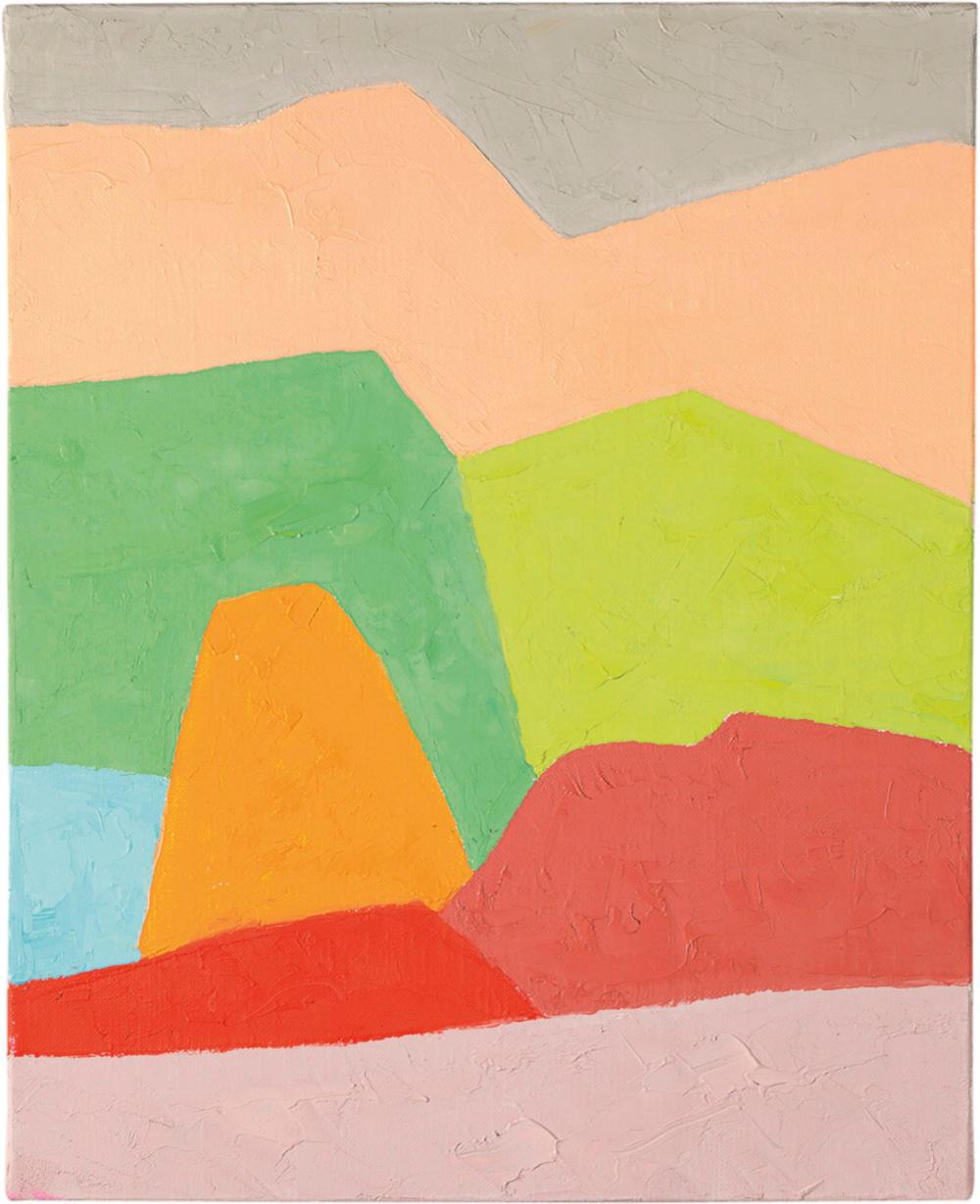 Etel Adnan, Untitled, 2019. Oil on canvas 41 x 33 cm (16.14 x 12.99 in) Courtesy Galerie Lelong & Co. © Etel Adnan, Courtesy Galerie Lelong & Co.