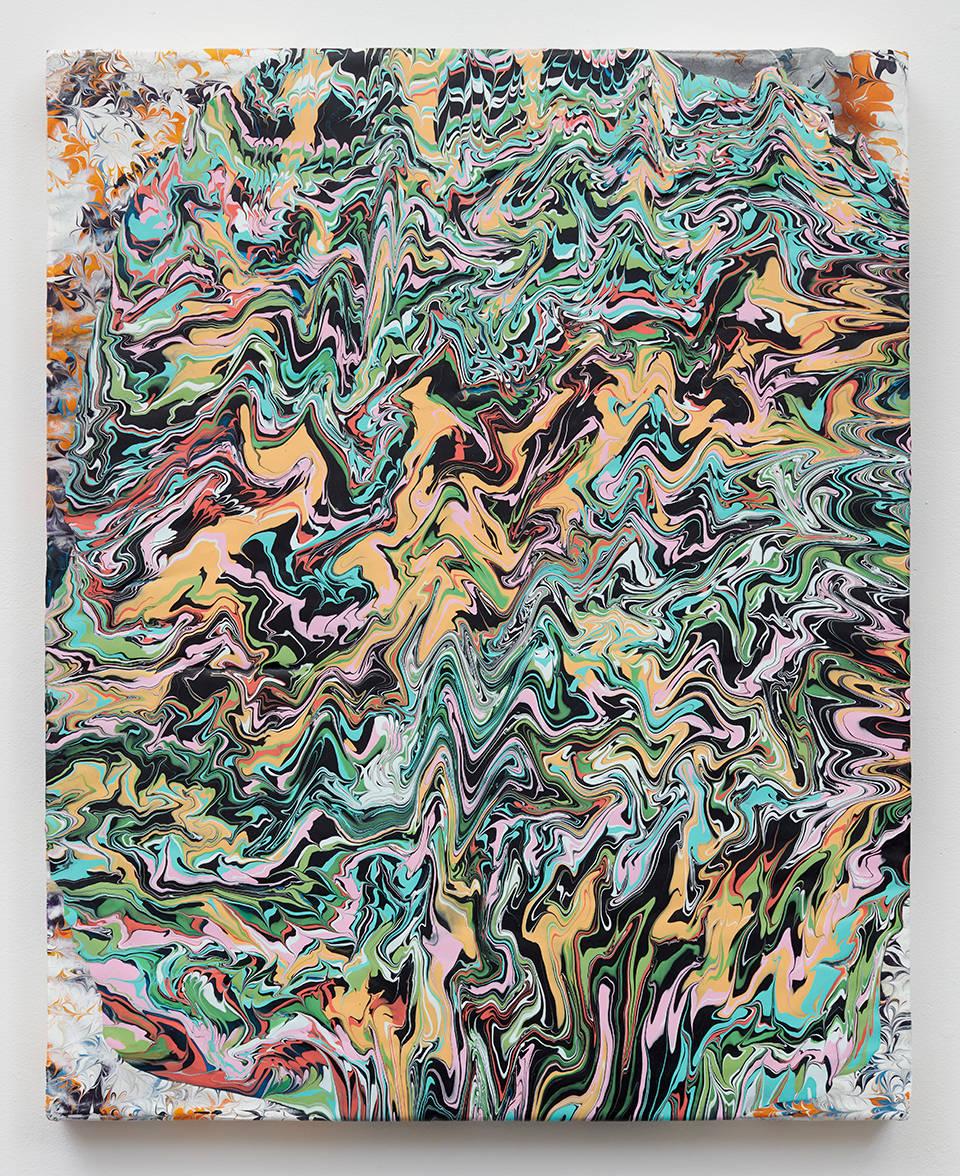 Glen Baldridge, No Way, 2019. Acrylic on panel 30 x 24 inches (76.2 x 61 cm)