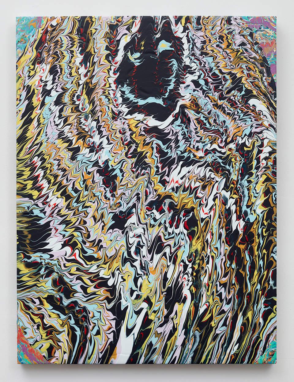 Glen Baldridge, No Way, 2019. Acrylic on panel 40 x 30 inches (101.6 x 76.2 cm)