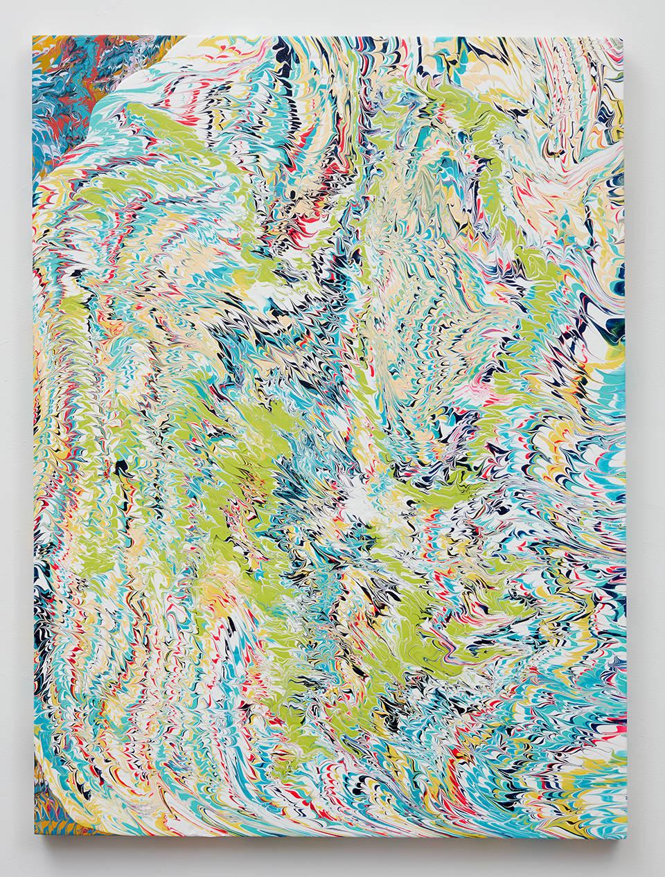 Glen Baldridge, No Way, 2019. Acrylic on panel 48 x 36 inches (121.9 x 91.4 cm)