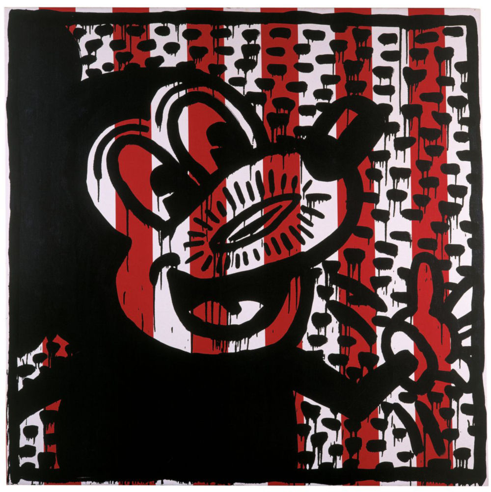 Keith Haring, Untitled, 1981. Oil on canvas 127 x 127 x 3.2 cm / 50 x 50 x 1 1/4 in. Courtesy Hauser & Wirth