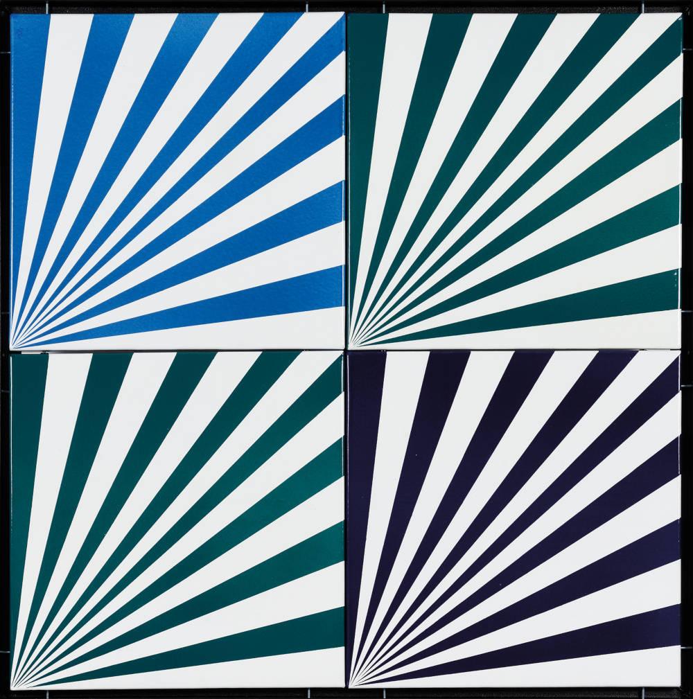 Károly Hopp-Halász, Untitled, 1968. Enamel on metal plate 90 x 90 cm, 35 1/2 x 35 1/2 inches
