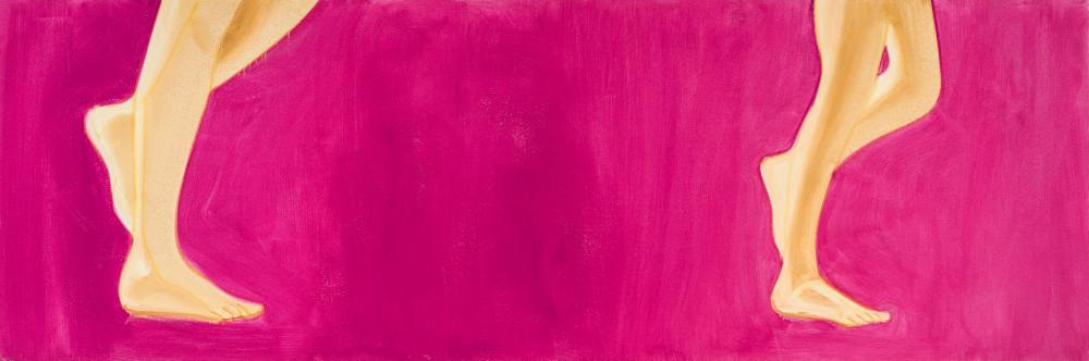 Alex Katz, Red Dancer 8, 2018. Oil on linen 91,4 x 274,3 cm (36 x 108 in) Photos: Paul Takeuchi © Alex Katz / Adagp, Paris