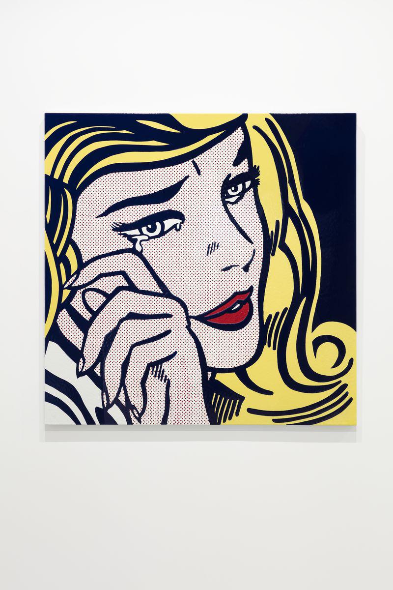 Roy Lichtenstein, Crying Girl, 1964. Enamel on metal 116.8 x 116.8 x 3.2 cm / 46 x 46 x 1 1/4 in. Courtesy Hauser & Wirth