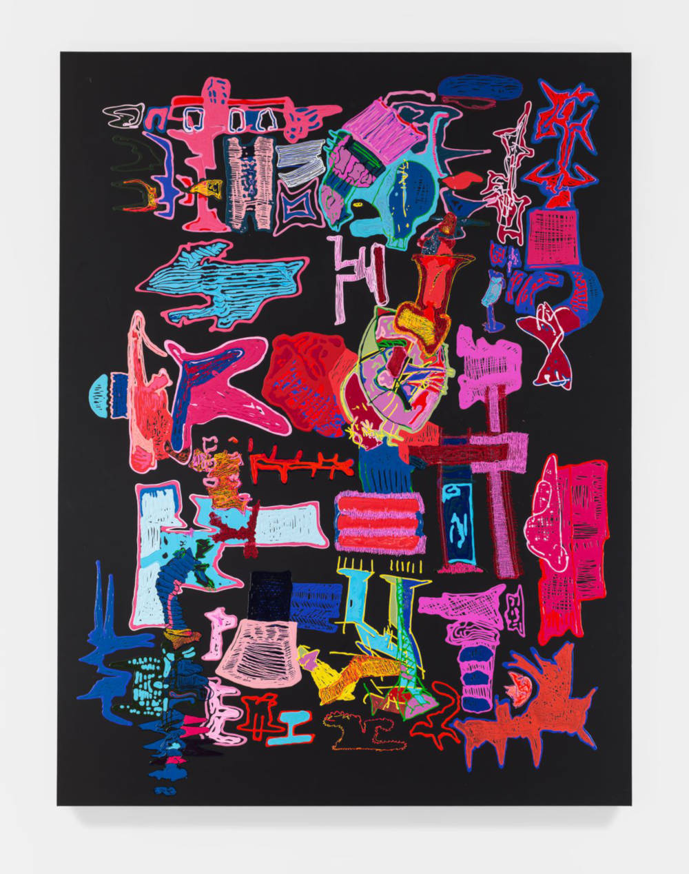 Leelee Kimmel, Pinkilicious, 2018. Acrylic on canvas 292,1 x 222,3 x 3,8 cm 115 x 87 1/2 x 1 1/2 inches © Leelee Kimmel - Photo: Maris Hutchinson. Courtesy of the Artist and Almine Rech