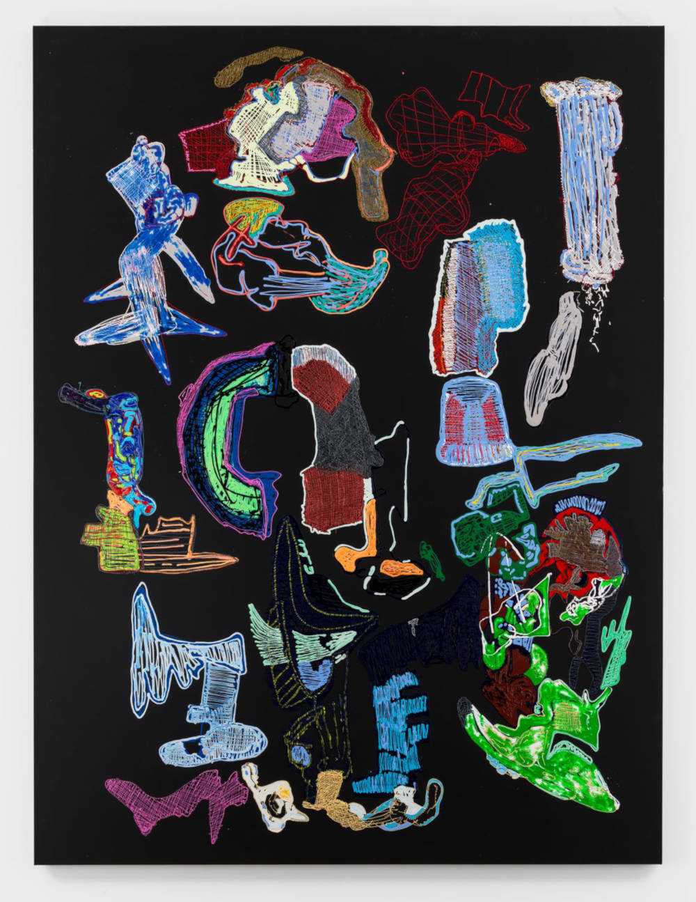 Leelee Kimmel, This High or The Godfather, 2018. Acrylic on canvas 276,9 x 208,3 x 3,8 cm 109 x 82 x 1 1/2 inches © Leelee Kimmel - Photo: Maris Hutchinson. Courtesy of the Artist and Almine Rech