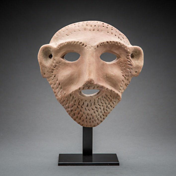 Bronze Age Mask, c.2700 - 1700 BCE, 19 x 19 x 5 cm Israel