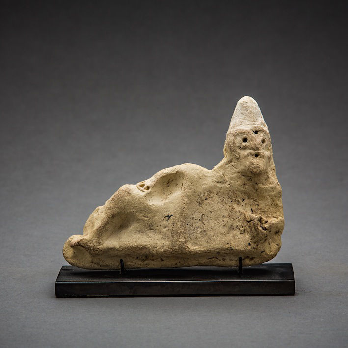 Sumerian Recumbent Figure, c.3000 - 2000 BCE, 9 x 10 x 3 cm Mesopotamia