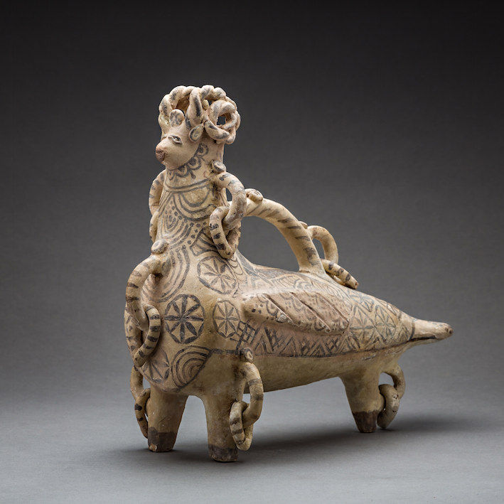 Aquamanile in the Shape of a Bird, c.700 - 1000 CE, 32 x 29 x 13 cm Central Asia
