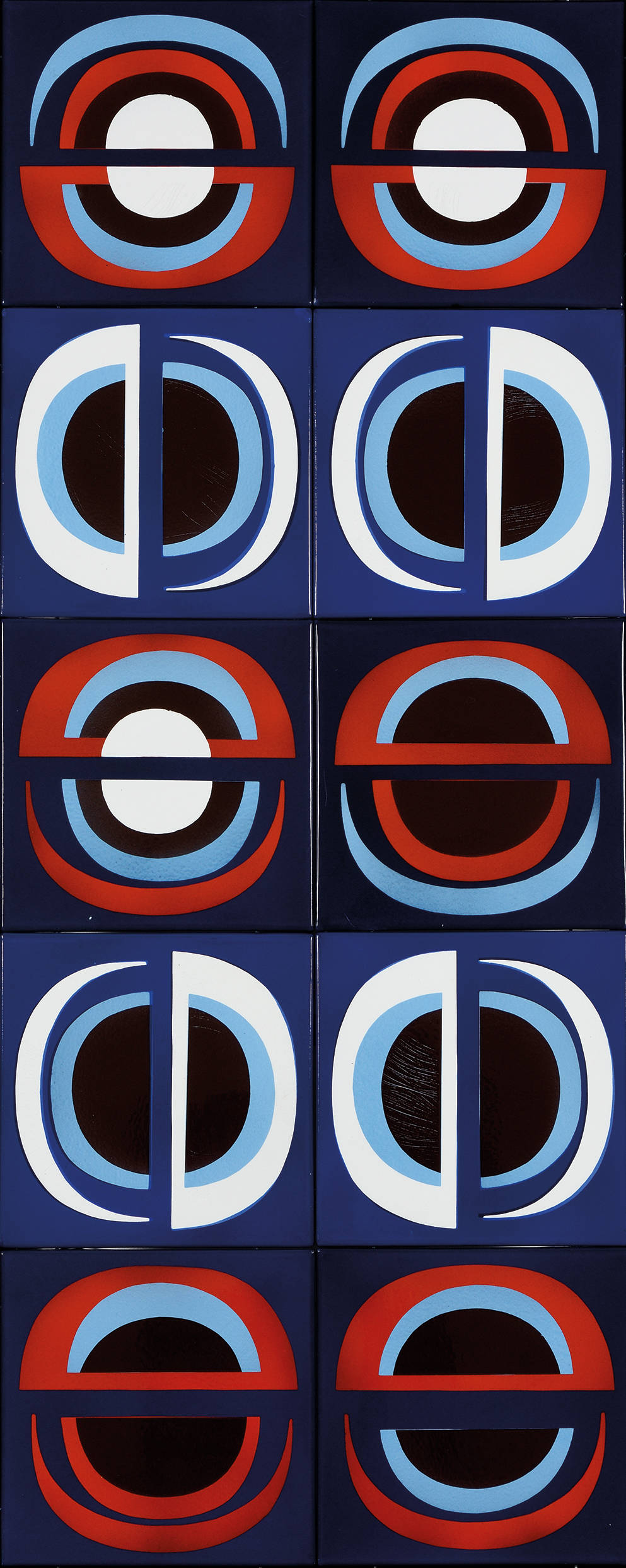 Ferenc Lantos, Untitled, 1969. Enamel on iron plate 154 x 63.5 cm, 60 1/2 x 25 inches