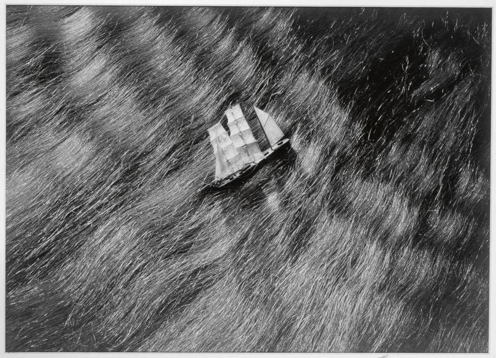 Dora Maar, Untitled (Advertisement for Pétrole Hahn), 1935. Silver print 30.5 x 24 cm / 12 x 9 1/2 in. Courtesy Hauser & Wirth