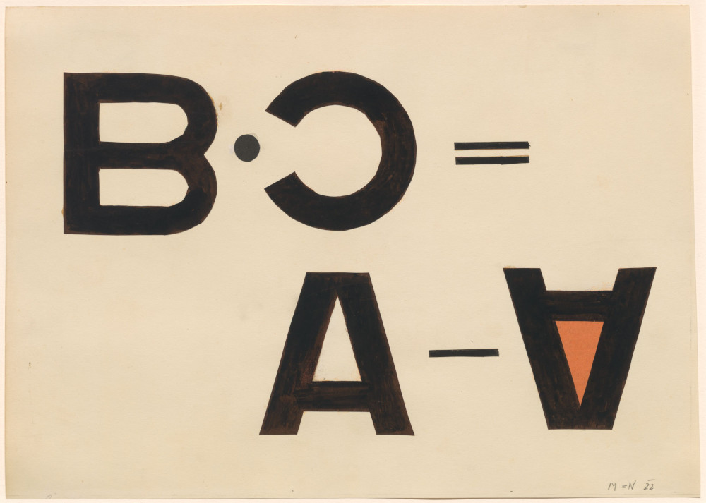 László Moholy-Nagy, Typographic Collage, 1922. Collage on Paper 27.5 x 38 cm / 10 7/8 x 15 in © the Estate of László Moholy-Nagy / Artists Rights Society (ARS), New York / VG Bild-Kunst, Bonn. Courtesy of the Estate of László Moholy-Nagy