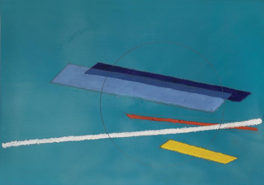 László Moholy-Nagy, G11, 1934. Oil and tempera on galalith 32 x 46 cm / 12 5/8 x 18 1/8 in © the Estate of László Moholy-Nagy / Artists Rights Society (ARS), New York / VG Bild-Kunst, Bonn. Courtesy of the Estate of László Moholy-Nagy