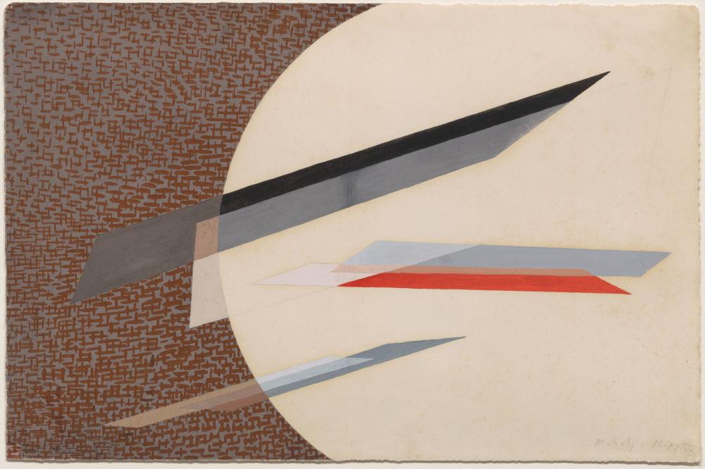 László Moholy-Nagy, Composition, 1935. Gouache on paper 34 x 52 cm / 13 3/8 x 20 1/2 in © the Estate of László Moholy-Nagy / Artists Rights Society (ARS), New York / VG Bild-Kunst, Bonn. Courtesy of the Estate of László Moholy-Nagy