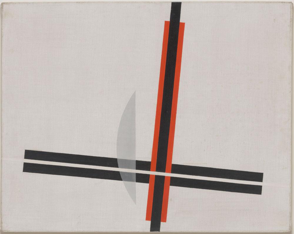 László Moholy-Nagy, Q IV, 1923. Painting on white grounded canvas 76 x 96 cm / 29 7/8 x 37 3/4 in © the Estate of László Moholy-Nagy / Artists Rights Society (ARS), New York / VG Bild-Kunst, Bonn. Courtesy of the Estate of László Moholy-Nagy
