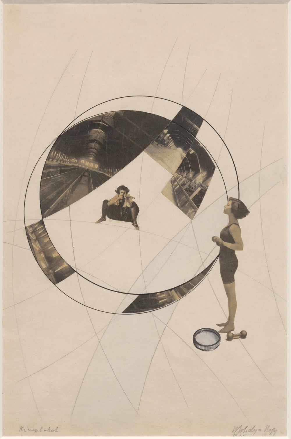 László Moholy-Nagy, Liebe deinen Nächsten / Mord auf den Schienen, 1925-1929. Collage 46.8 x 29.8 cm / 18 3/8 x 11 3/4 in © the Estate of László Moholy-Nagy / Artists Rights Society (ARS), New York / VG Bild-Kunst, Bonn. Courtesy of the Estate of László Moholy-Nagy