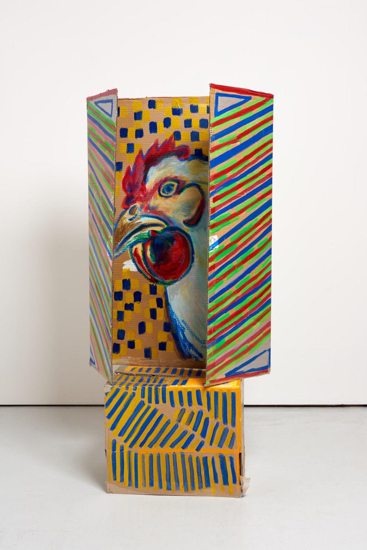 Ma Jianfeng, Untitled M5, 2019. Acrylic on cardboard, (Top) H 99 x W 62 x D 29 cm, (Bottom) H 38 x W 46 x D 31 cm. Courtesy the Artist and GAO, London. Photo by Jonathan Bassett.
