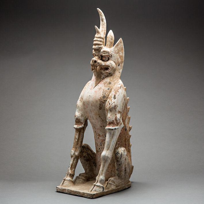 Tang Dynasty Spirit Guardian, c.618 - 908 CE, 65 x 25 x 20 cm China