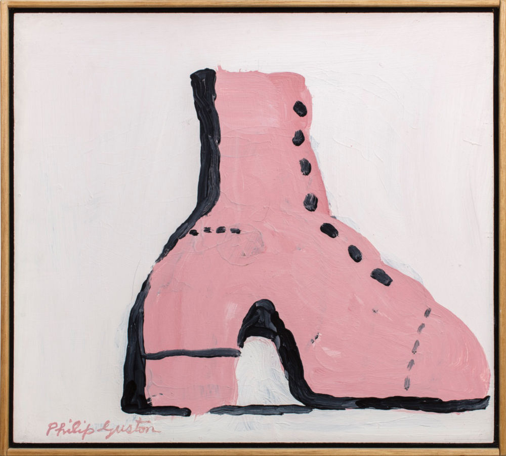 Philip Guston, High Heel, 1968. Acrylic on board 53.3 x 48.3 cm (21 x 19 in) Private Collection, London © Philip Guston. Photo: Richard Ivey