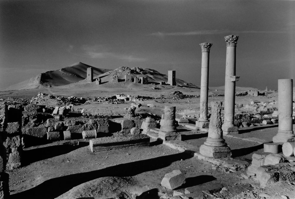 Palmyra, looking from the city centre towards the tower tombs of the city of the dead, c.2006-09