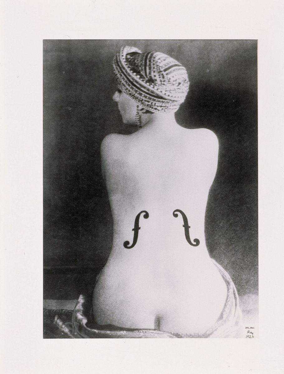 Man Ray, Ingres' Violin, 1924. Silver print 39 x 28 cm / 15 3/8 x 11 in. Courtesy Hauser & Wirth