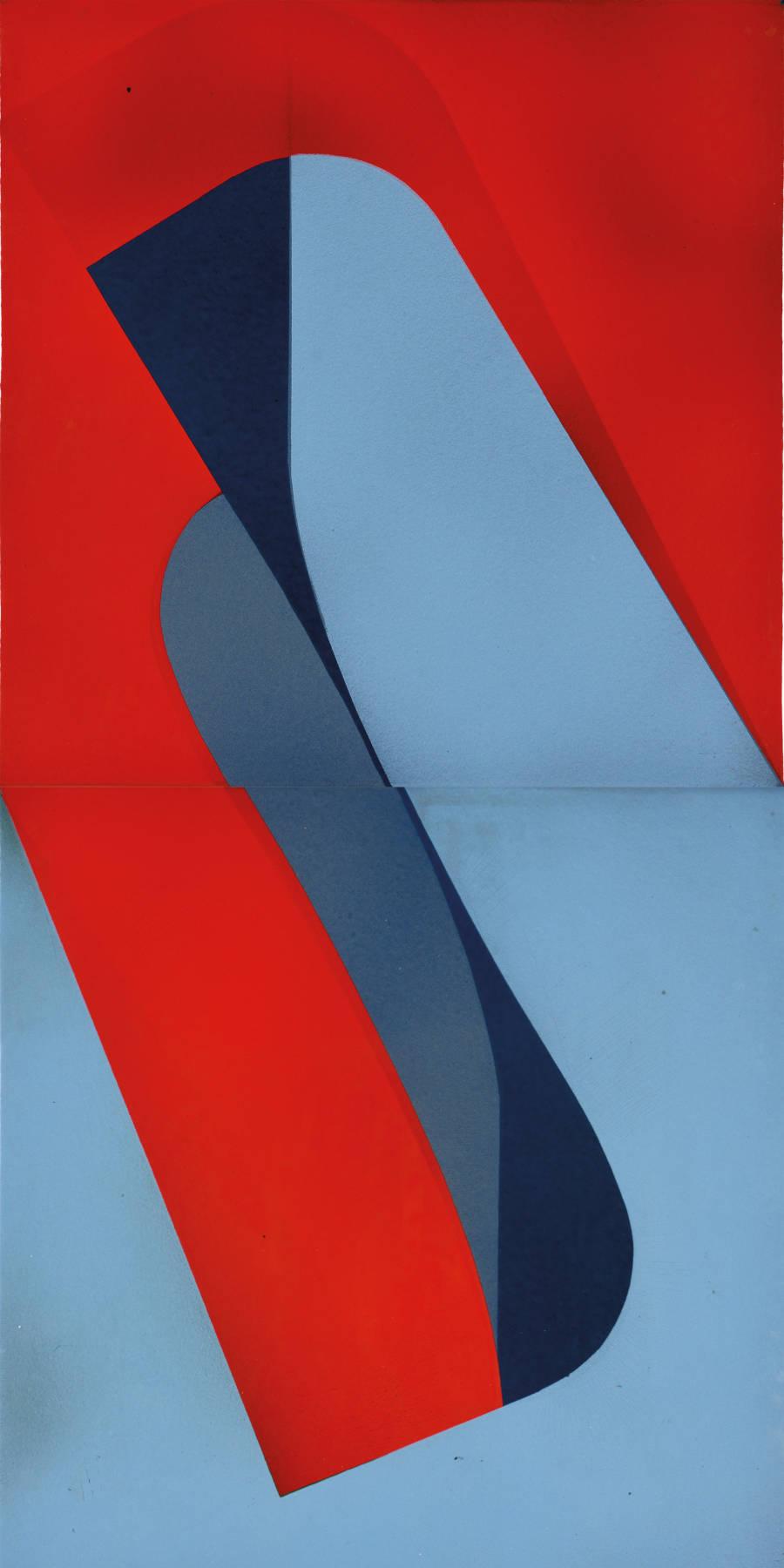 Kálmán Szijártó, Untitled, 1971. Enamel on iron plate 90 x 45 cm, 35 1/2 x 17 3/4 inches