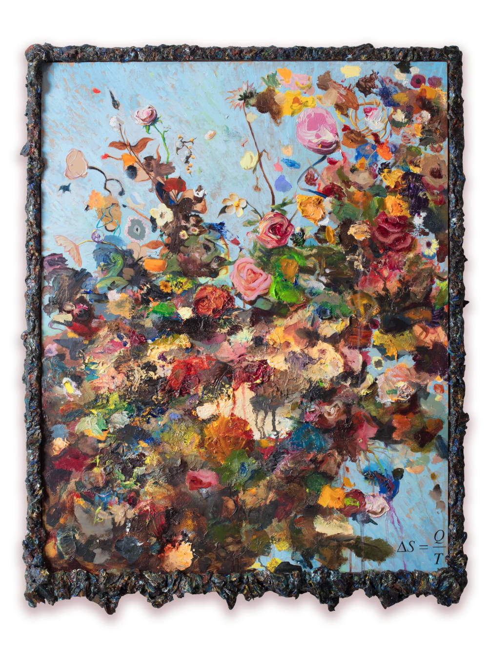 Keith Tyson, Entropy, 2016 - 2019. Oil on aluminium © Keith Tyson. Courtesy of the artist and Hauser & Wirth