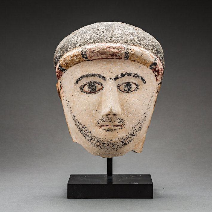 Roman Period Funerary Mask of a Man, c.100 - 300 CE, 26 x 21 x 12 cm Egypt