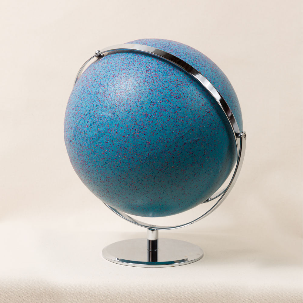 John Knuth (b. 1978), A Portable Model Of..., 2019. Acrylic/Flyspeck on Globe 13 (H) x 12 (W) x 15 (D) inches