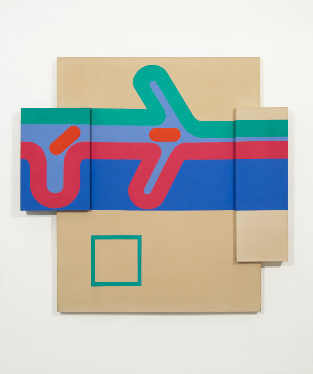 Sven Lukin (b. 1934), Saggies, 1964. Acrylic on canvas construction 60 1/4 (H) x 62 1/4 (W) x 4 1/2 (D) inches
